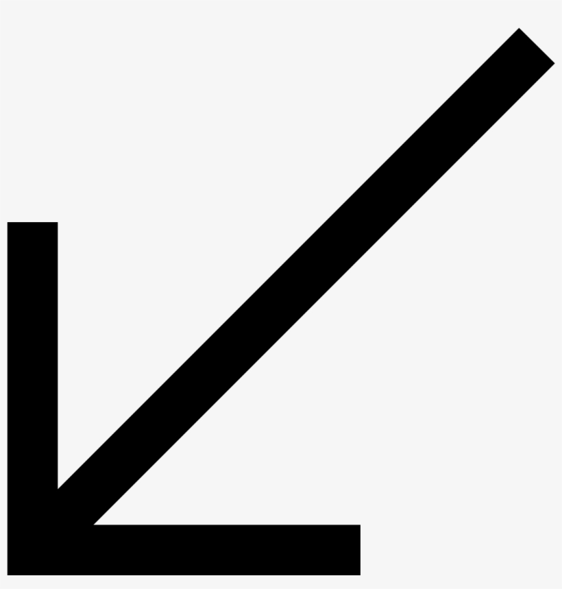 This Is A Picture Of An Arrow Pointing To The Lefthand - Arrow Down Left, transparent png #1884542