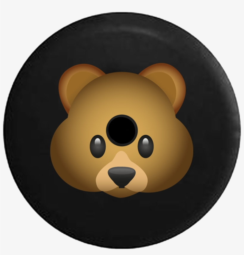 Jeep Wrangler Jl Backup Camera Day Teddy Bear Emoji - Tire Cover Pro, transparent png #1884854