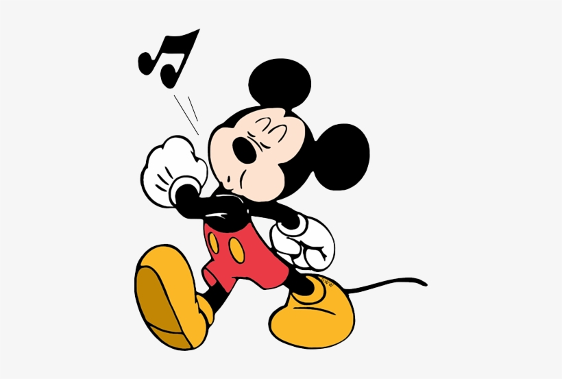 Mickey Mouse Whistling 미키 마우스 아트, 디즈니 아트, 월트 디즈니, 귀여운 - Mickey Mouse Coloring Pages, transparent png #1885064