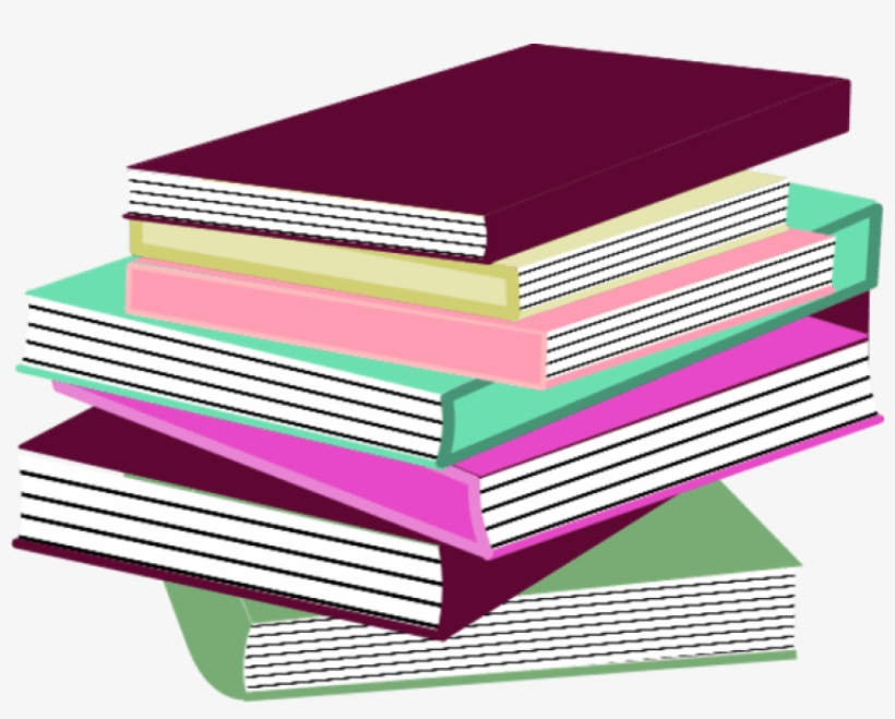 Picture Royalty Free Stock Best Photos Of Books Clip - Stack Of Books Pink, transparent png #1885070