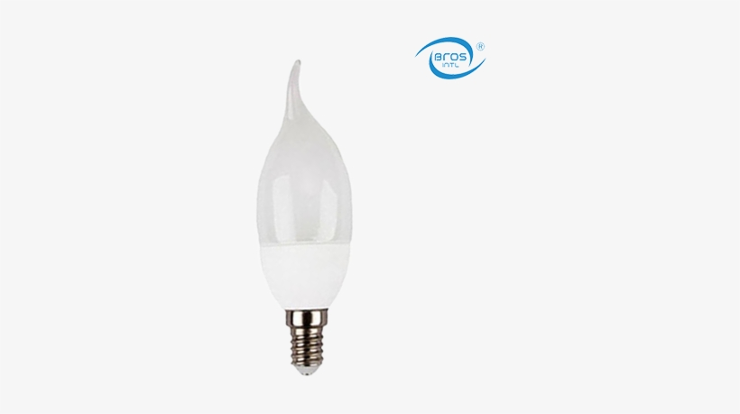 Led Candle Light Flame Tip C37 E27 - Daytime Candle Led Light Bulbs, transparent png #1886520