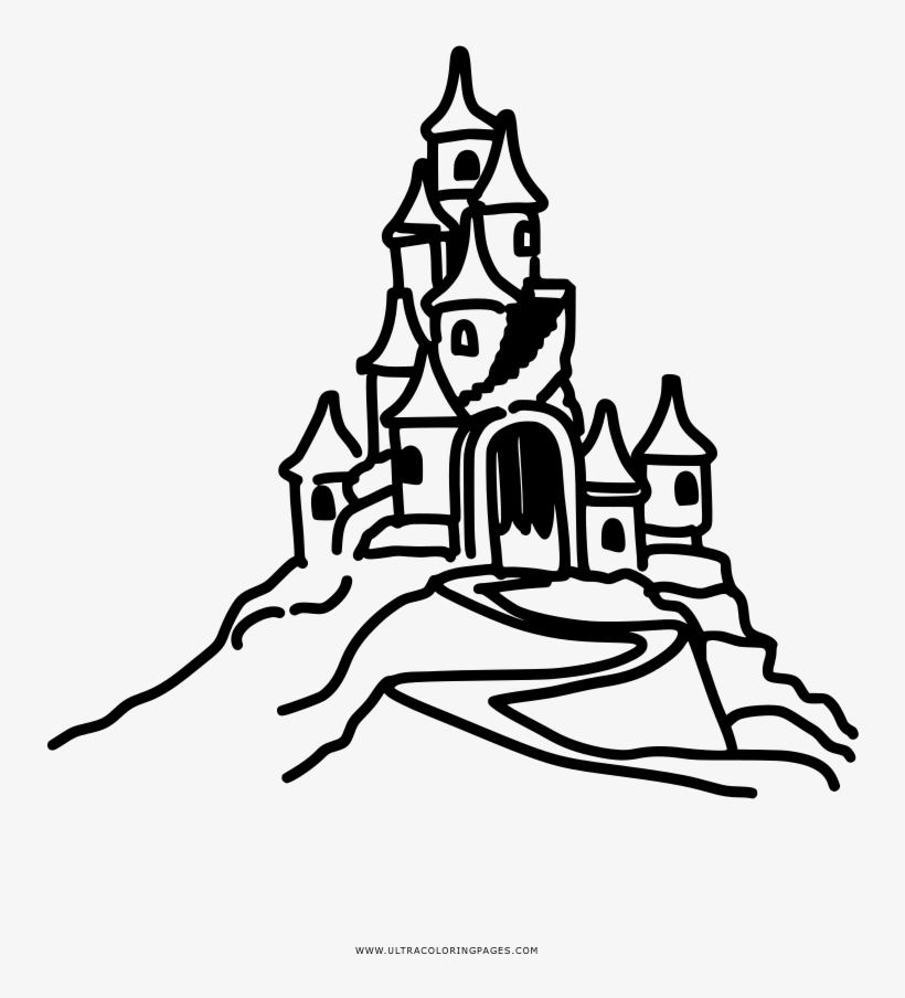 Coloring Page sandcastle - free printable coloring pages | 904x820