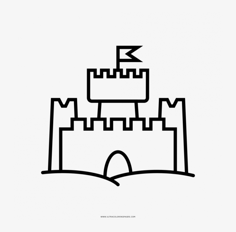 Building Sand Castle Coloring Page. | Summer coloring pages ... | 808x820