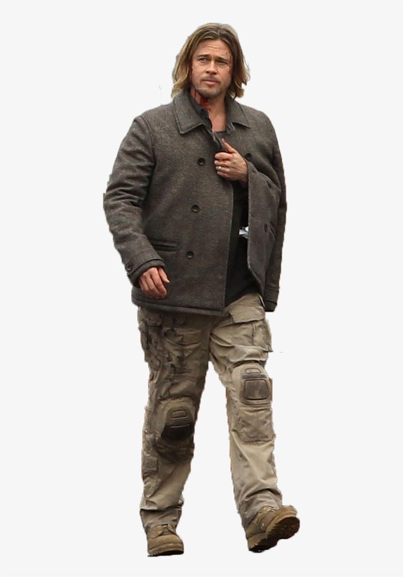Brad Pitt Png - Brad Pitt World War Z Png, transparent png #1888349