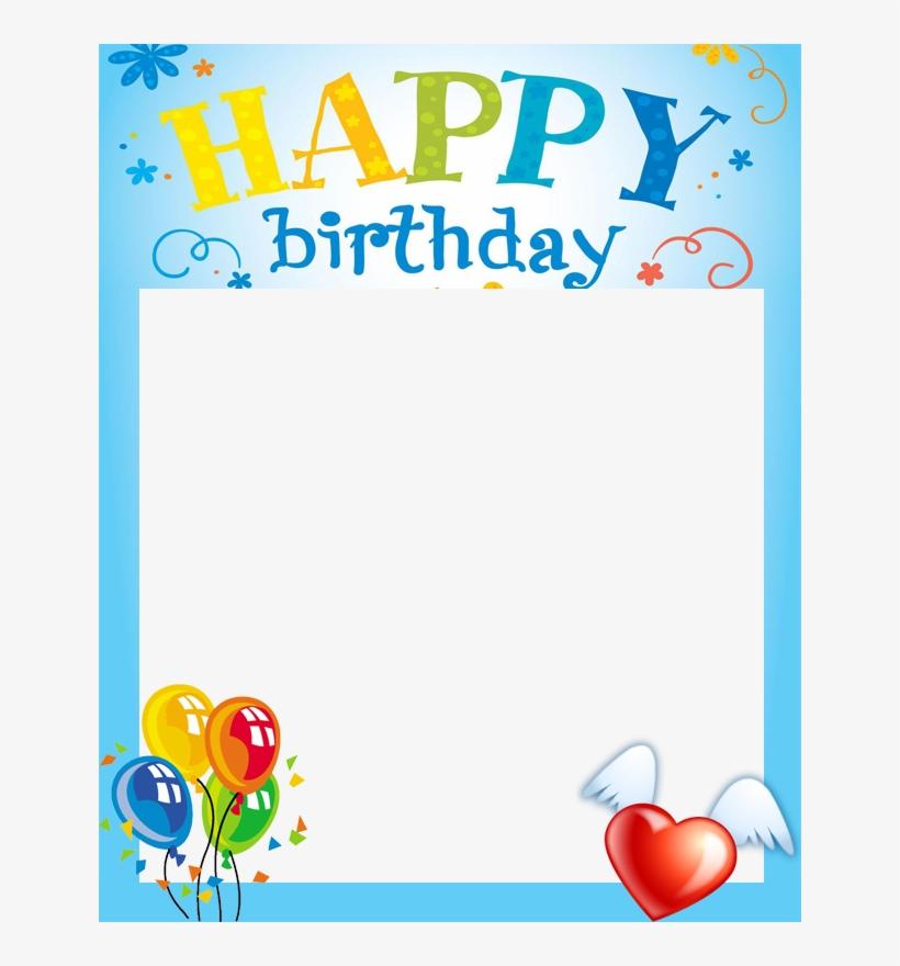 Free Happy Birthday Frame - Happy Birthday Border Design, transparent png #1888725