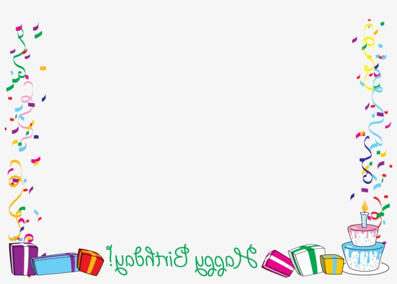 Birthday Border Clipartion Com - Border Birthday Frame Png, transparent png #1889208