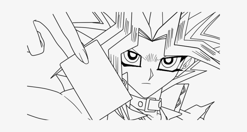 Yugioh Png Stock - Yu Gi Oh Lineart, transparent png #1889238