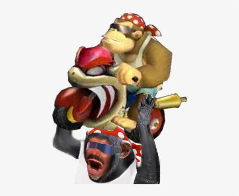 Sticker Risitas Eussou Singe Funky Kong Donkey Dk Mario