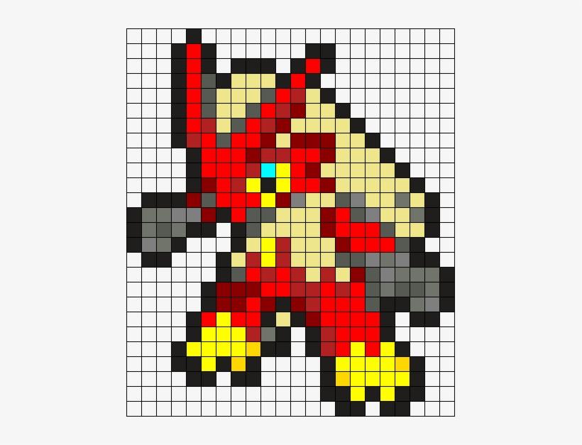 Blaziken Perler Bead Pattern Bead Sprite Pixel Art