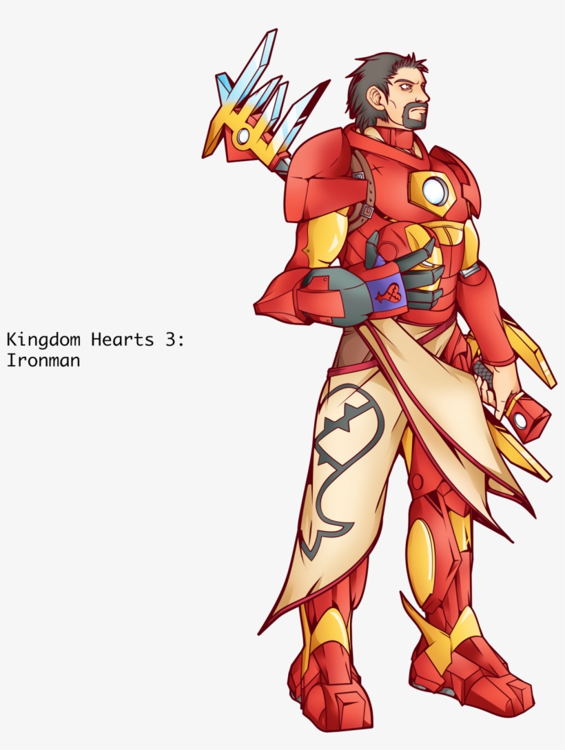 Ironman Kingdom Hearts By Alessandelpho Draw Kingdom Hearts Style