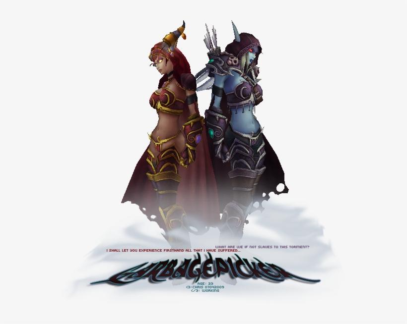 Alexstrasza And Lady Sylavanas - World Of Warcraft Sylvanas Png, transparent png #1893796