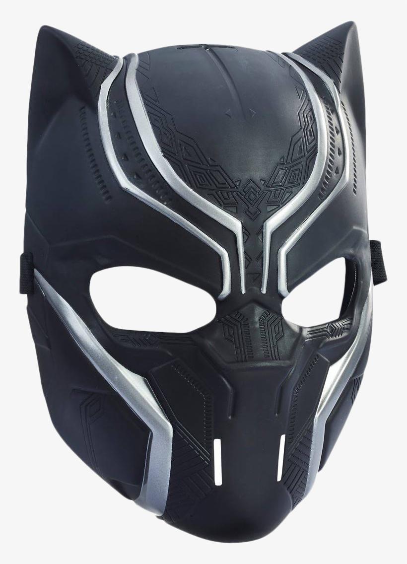 Black - Marvel Captain America Civil War Panther Mask - Black, transparent png #1894337