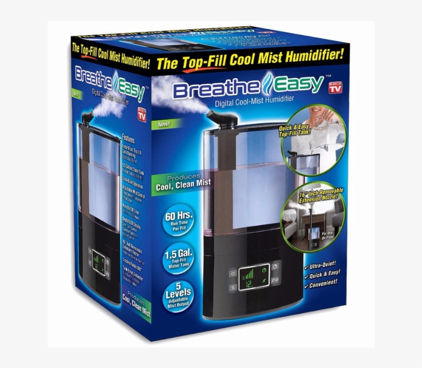 Breathe Easy Humidifier Ultra Cool Mist - Breathe Easy 1.6-gal. Digital Cool-mist Humidifier, transparent png #1895072