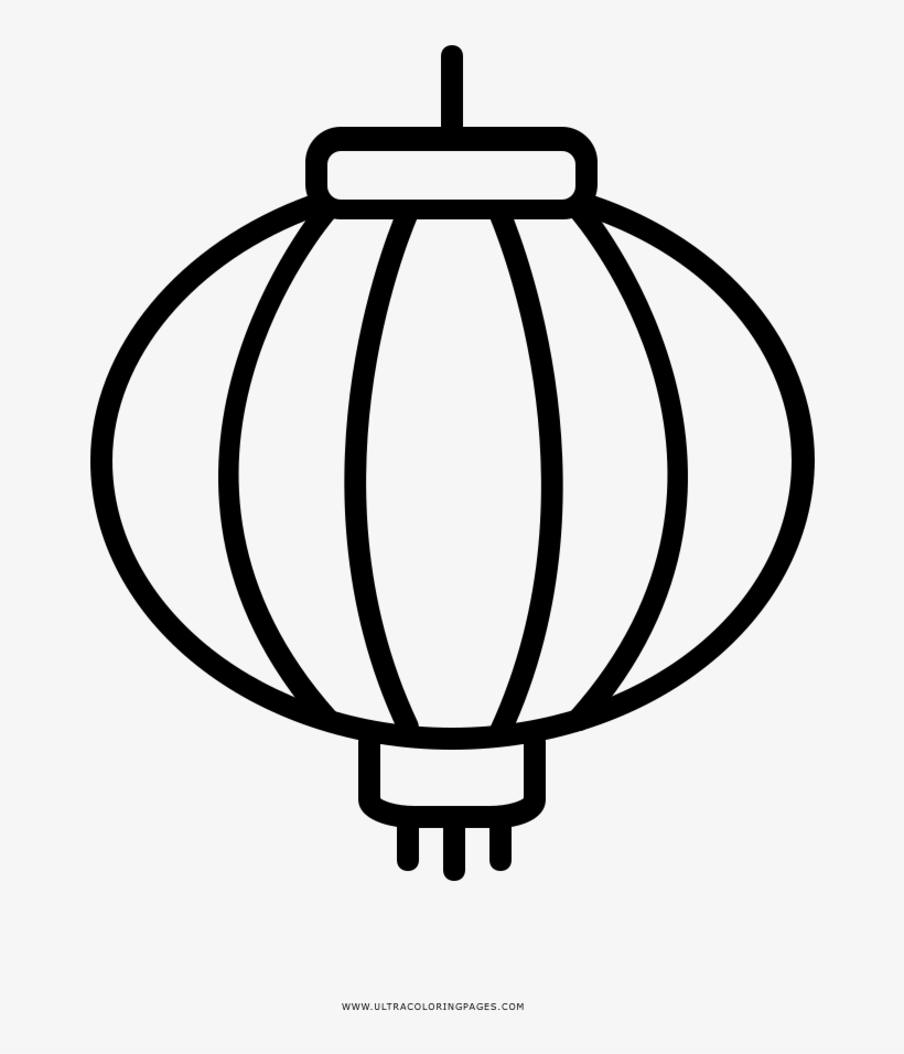 Chinese Lantern Coloring Page - Lampara China Para Colorear - Free ...