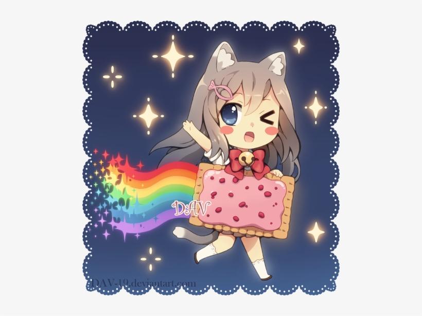 Nyan Cat Pop Tart Chibi - Nyan Cat Anime Girl, transparent png #1895848