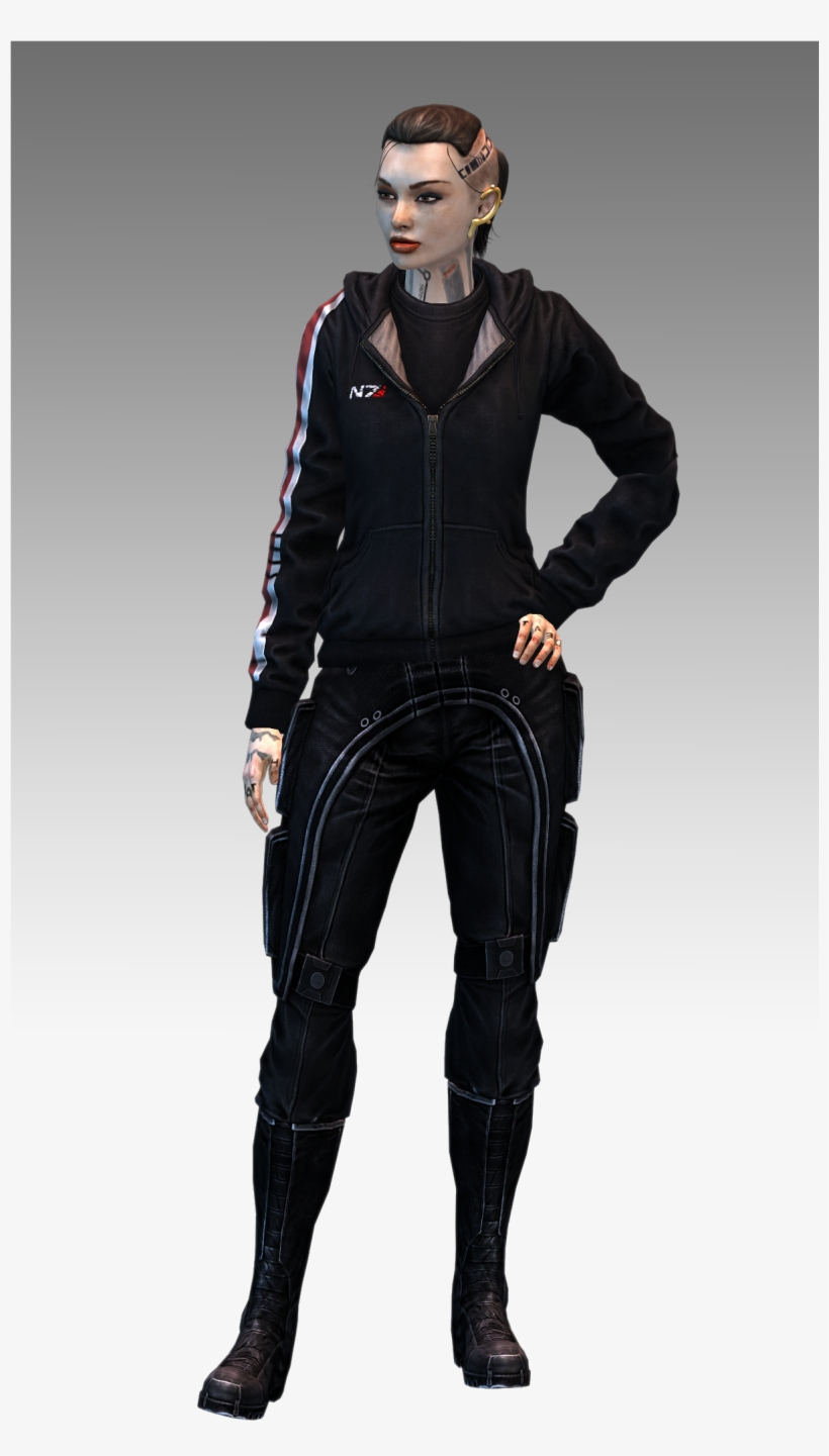Mass Effect 3 Jack N7 Hoodie Model By Nightfable Mass