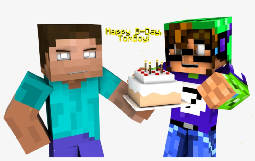 Herobrine Transparent Happy Happy Birthday Minecraft Png