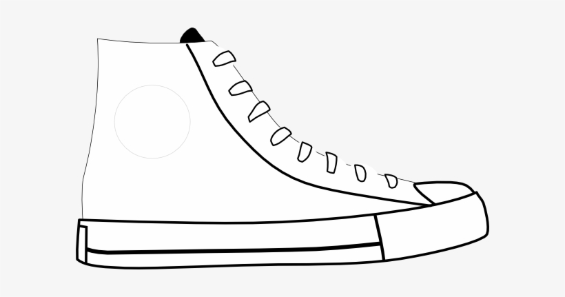 Shoes Clipart Black And White - Pete The Cat Shoe Template, transparent png #190257