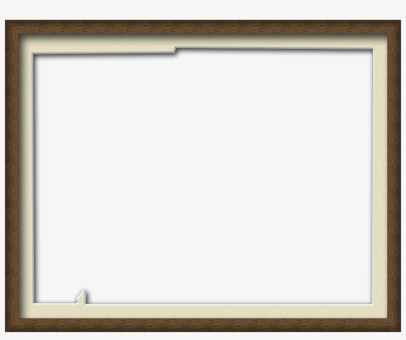 A Map Of Desoto With A Wood Picture Frame With A Cream - Transparent Wood Frame Border, transparent png #190287