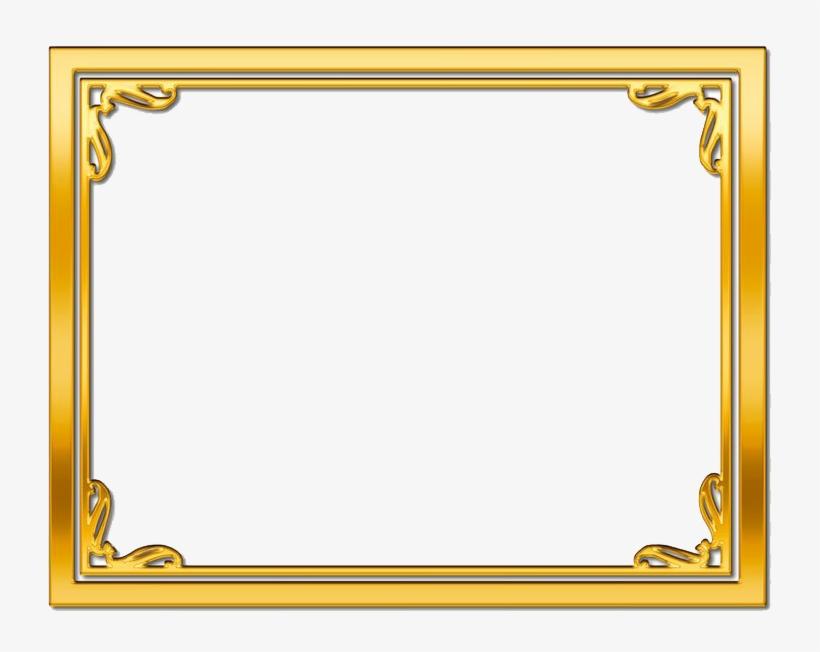 Gold Frame Png Picture - Gold Frame Border Png, transparent png #191732
