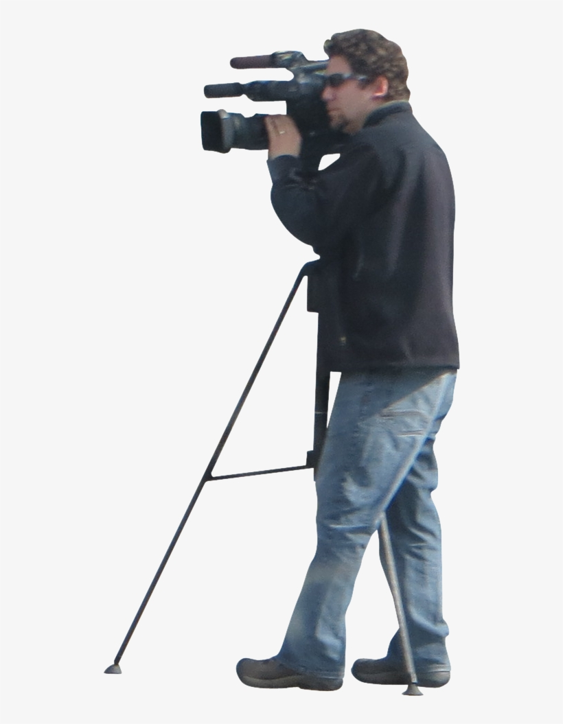 Man And Video - Man With Video Camera, transparent png #192052
