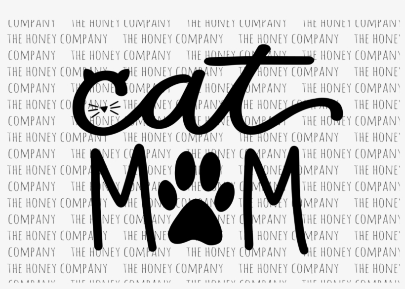 Cat Mom Svg Png Dxf Hand Lettered Fur Mom Mama Lover - Cat Mom Vector, transparent png #192195