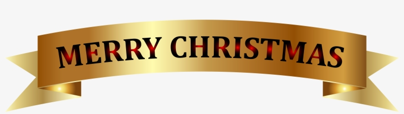 Golden Merry Christmas Banner Png Clip-art Image - Gold Merry Christmas Banner, transparent png #193480