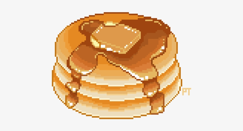 Transparent Pancakes Pixel Art Food Png Free Transparent