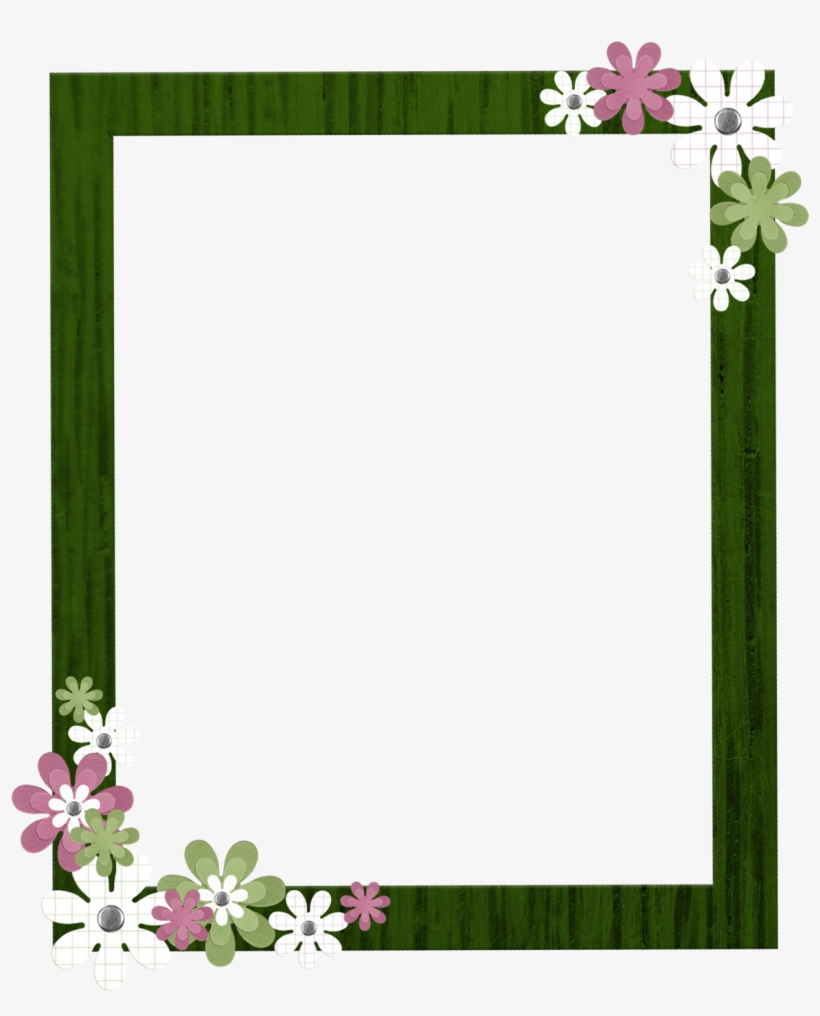 Green Border Frame Clipart - Borders And Frames Png, transparent png #193557