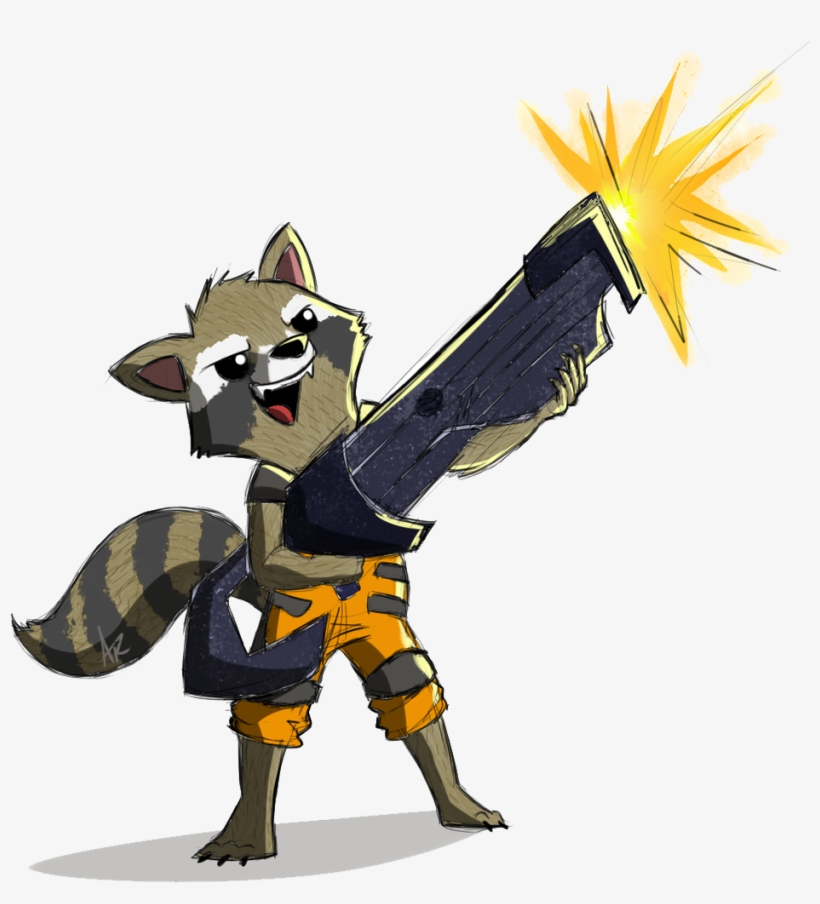 Rocket Raccoon Png Pic - Rocket Raccoon Cartoon Drawing, transparent png #194663