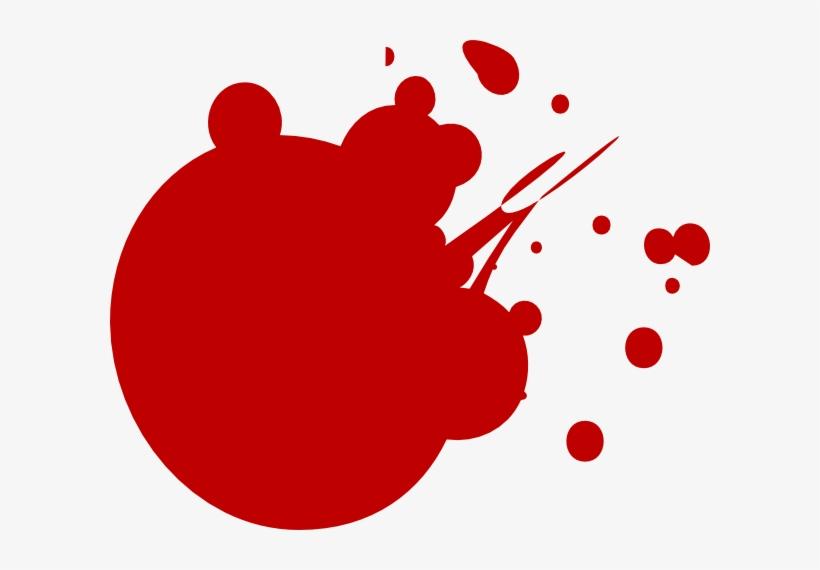 Red Dot Splat Clip Art At Clker - Neon Paint Splatter Clip Art, transparent png #195234