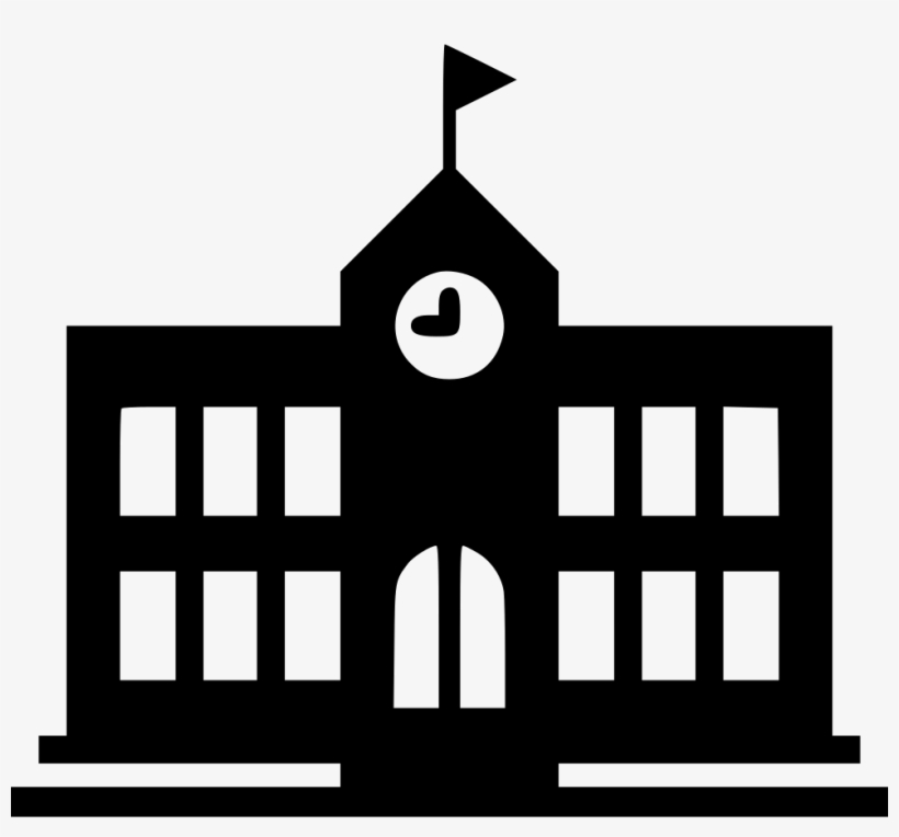 School Icon Png - School Building Icon Png, transparent png #195443