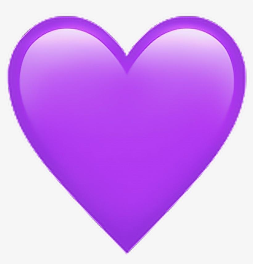 Heart Violet Violeta Png Sticker Tumblr - Emoji De Corazon Morado, transparent png #195752