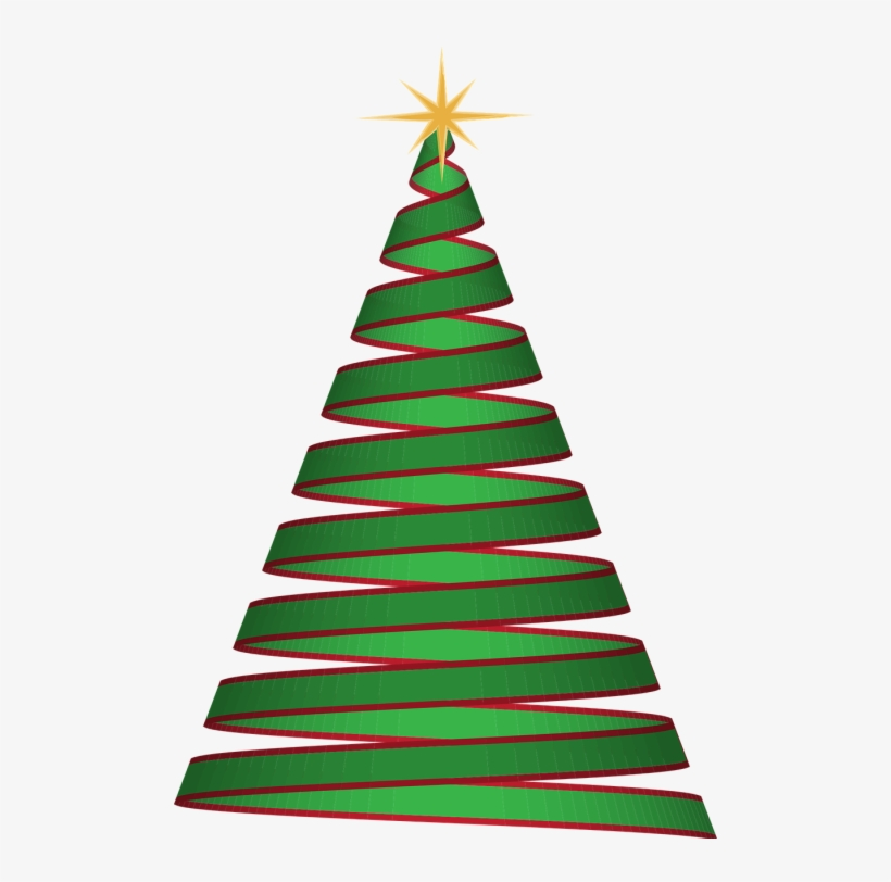 Christmas - Christmas Tree Ribbon Png, transparent png #195897
