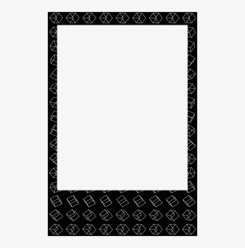 Exo, Frame, And Polaroid Image - Moldura Polaroid, transparent png #196141