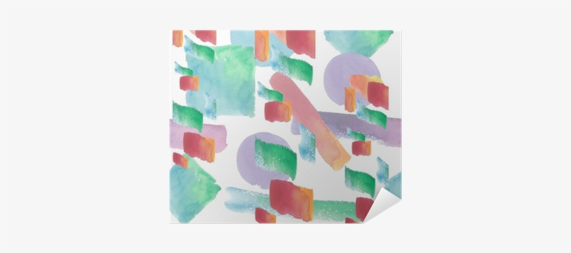 Colorful Texture Illustration Pattern In A Watercolor - Watercolor Painting, transparent png #197022
