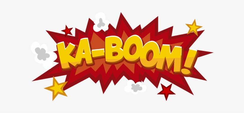 Boom Cartoon Png - Ka Boom, transparent png #198082