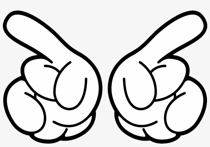 Mickey Mouse Hand Png Svg Download - Mickey Mouse Hand Clipart, transparent png #1900165