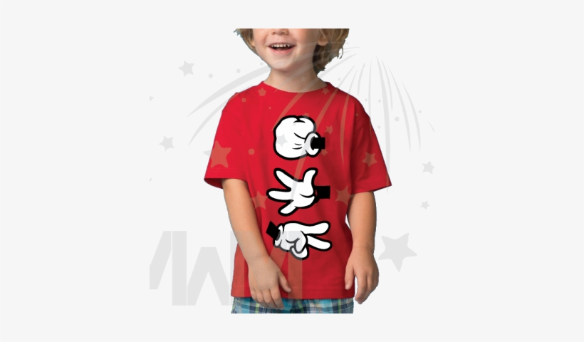 Rock Paper Scissors Disney Mickey Mouse Hands Cool - Christmas Light Mickey Shirts, transparent png #1900776