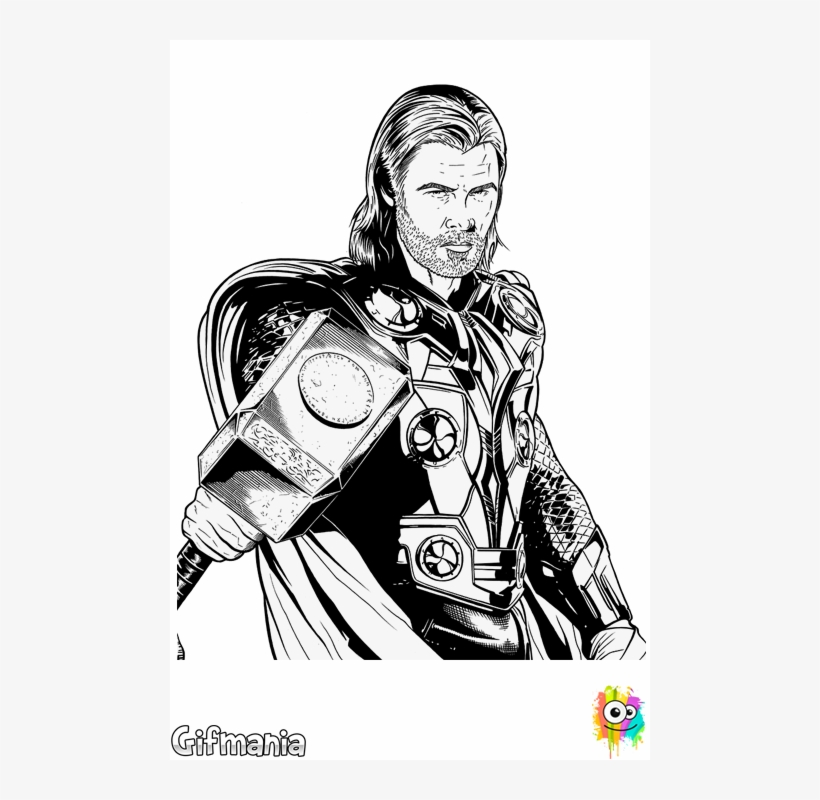 You Can Color Thor In The Dark World Dibujo Thor Para Colorear