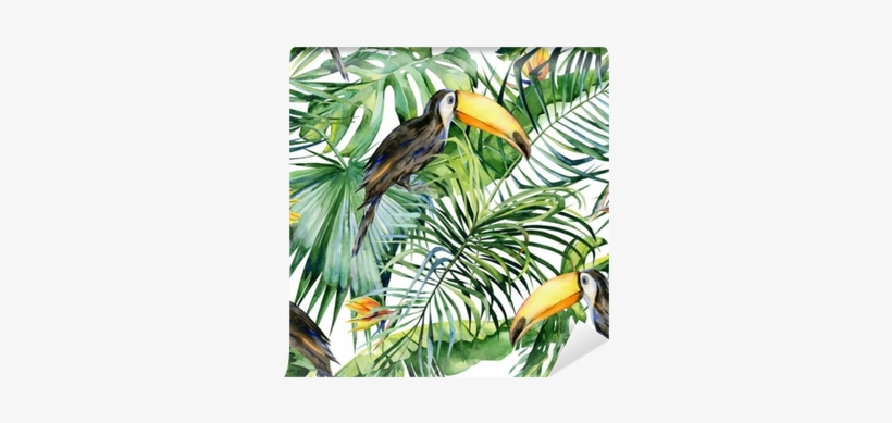 Seamless Watercolor Illustration Of Toucan Bird - Watercolor Illustration Free Jungle, transparent png #1904386