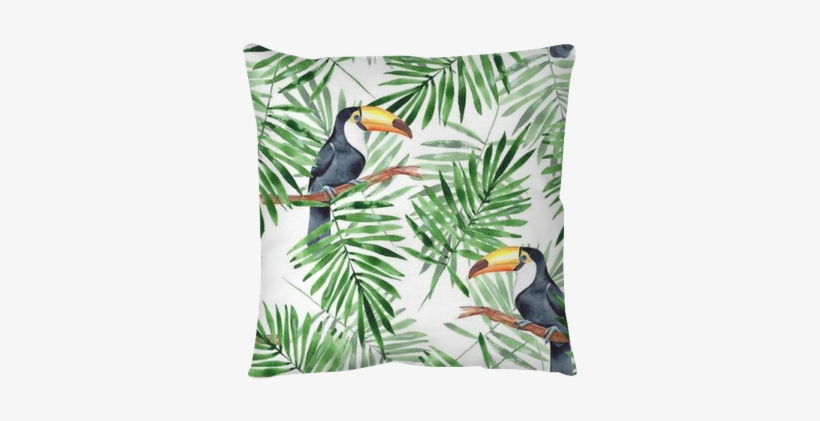Palm Leaves And Toucan - Palm Leaves With Toucan, transparent png #1904434