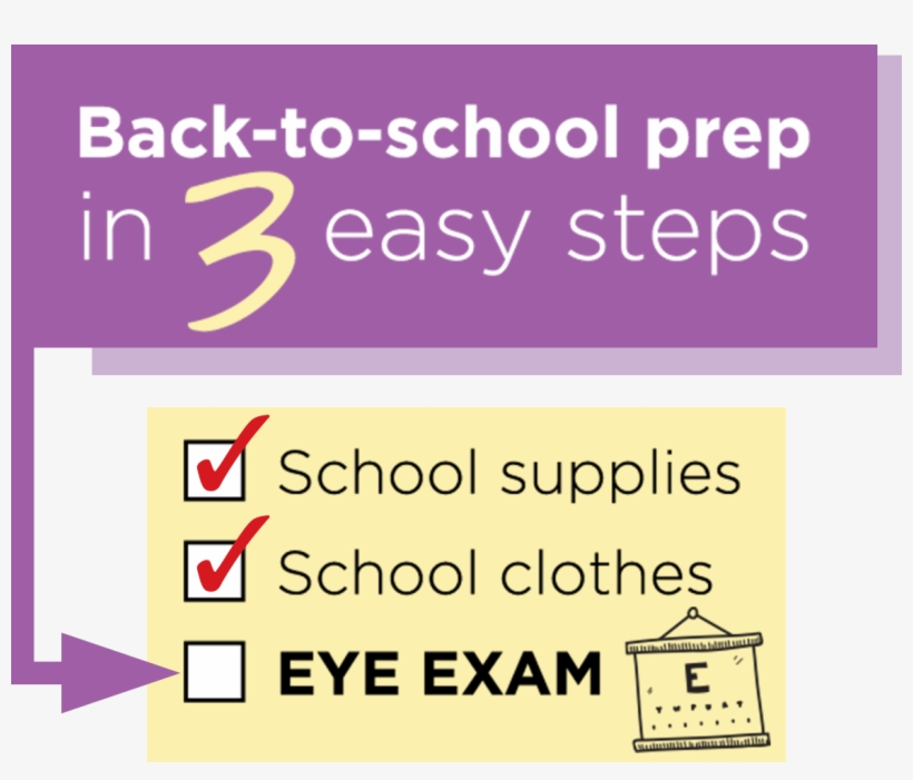 Back To School Prep In 3 Easy Steps - Jcpenney Optical, transparent png #1904908