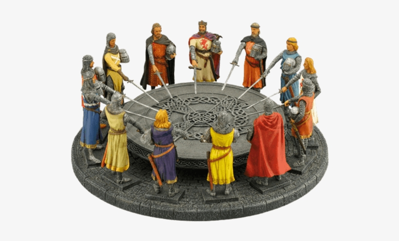 Round Table Statue King Arthur, The Knight Of Round Table