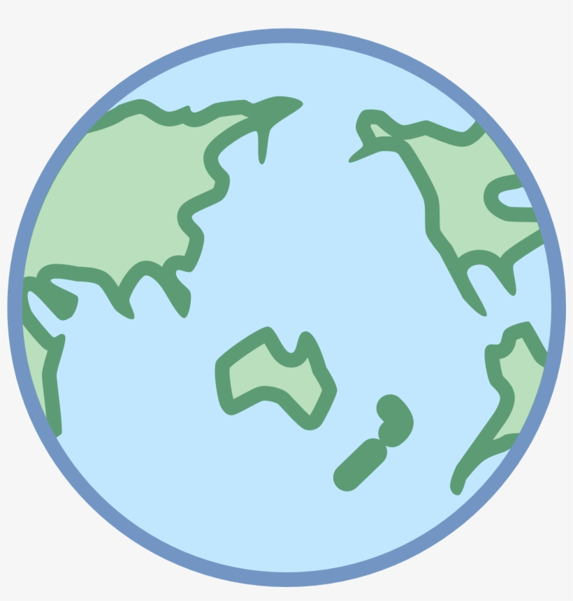 Earth Clipart Asia Png - World Icon View On Asia, transparent png #1908943
