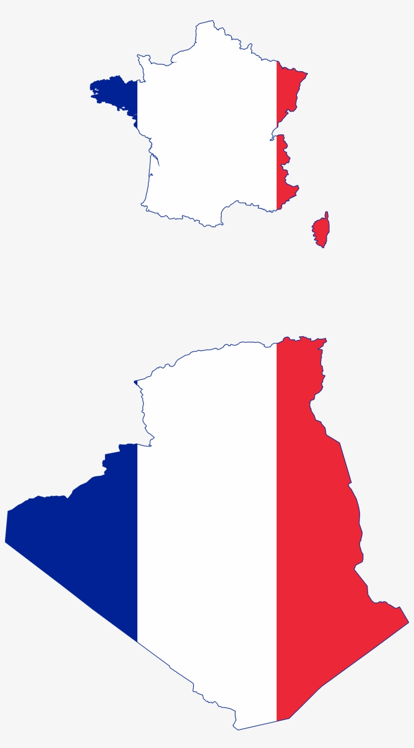 Flag Map Of France And Algeria Vichy France Flag Map Free