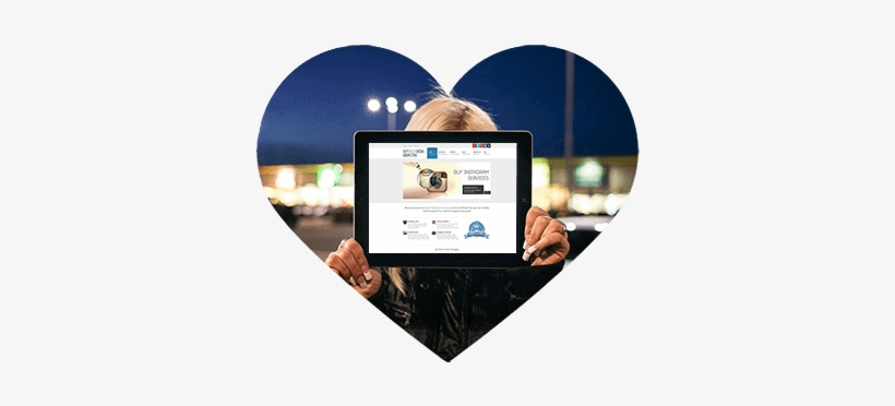 Buy Likes On Instagram Heart - Instagram Mockup Para Ipad, transparent png #1910270