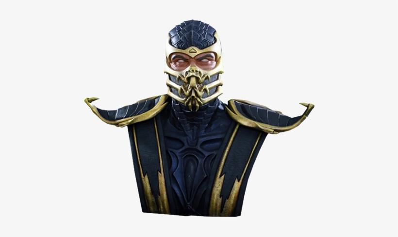 "24"" Mortal Kombat Life-size Bust Scorpion - Mortal Kombat X Bust 1/1 Scorpion 76 Cm, transparent png #1910526"