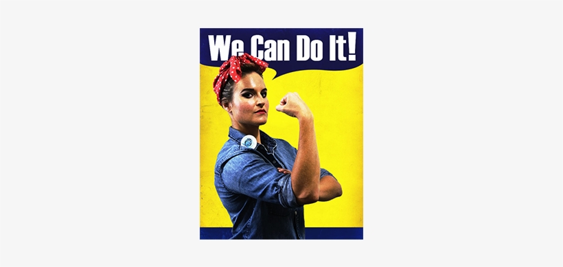 Rosie The Riveter Is A Powerful Symbol In Our Country's - We Can Do It!, transparent png #1911083