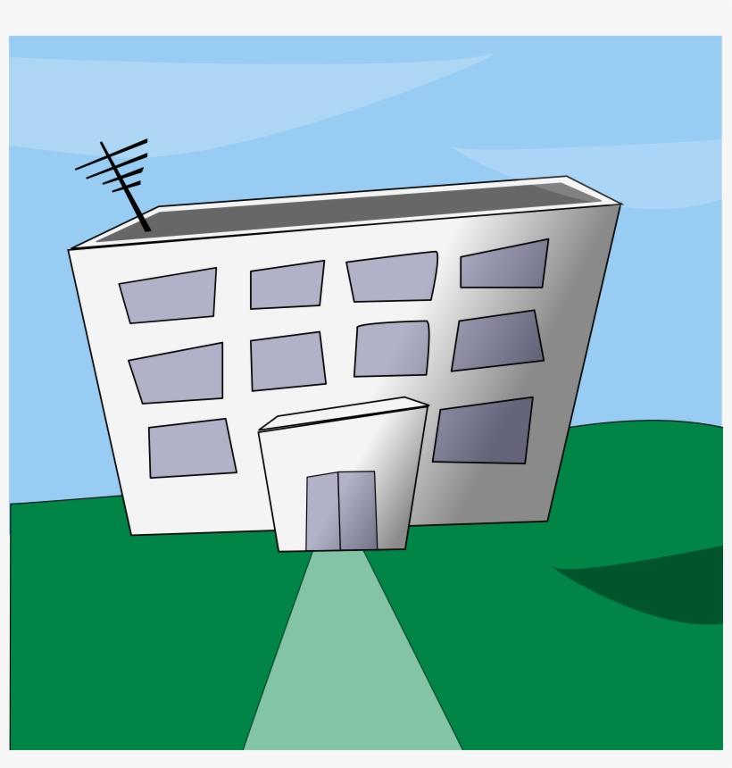 Office Building Cartoon Png Download - Cartoon Building, transparent png #1911861